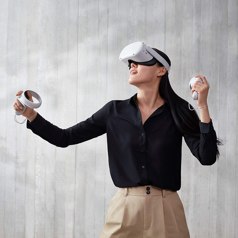 亚马逊销冠!5K预算最好VR设备:Oculus Quest2 无线头戴式VR一体机 128GB