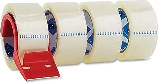 Sparco 包装胶带,配分配器,3 英寸核心,3.0 密耳,2 x 55 码,每包 4 根,CL (SPR64011)