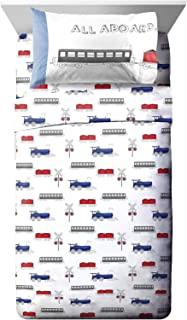 Jay Franco Trend Collector All Aboard 幼儿床单套装 - 3 件套超柔软舒适儿童床上用品 - 防褪色超细纤维床单