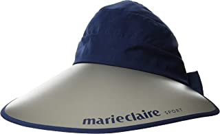 Marie Claire 女士 高尔夫 UV 帽子 (710937) 遮阳帽 marie claire 藏青色 日本 F (FREE サイズ)