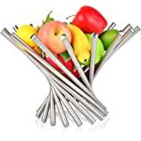水果碗,不锈钢台面水果篮支架创意家居装饰面包蔬菜收纳收纳盒厨房客厅/餐厅