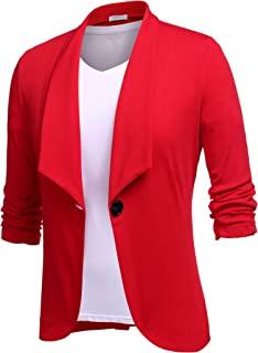 UNibelle 女式前开襟办公室西装休闲单扣垂坠轻质夹克