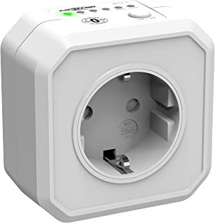 ANSMANN 定时器插座 AES1 ,可切换节能插座,带倒数计时器,用于暖风机、熨斗、咖啡机、洗衣机等(通过开关可选择时间间隔) - 白色