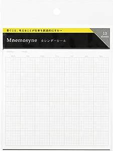Maruman MNEMOSYNE 日历标签,适用于 A5 或更大尺寸的笔记本,13 张/包,1 包 (MNFD1)