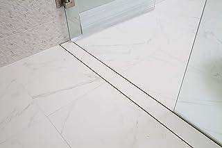 Mark E Industries Goof Proof 60 英寸(约 152.4 厘米)线性淋浴排水套件,带顶部瓷砖插件