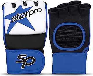 Starpro MMA 拳击手套训练 - Graping Muay 泰拳跆拳道武术空手道战斗笼打拳袋拳击手套 | PU 合成皮革红色蓝色男女适用