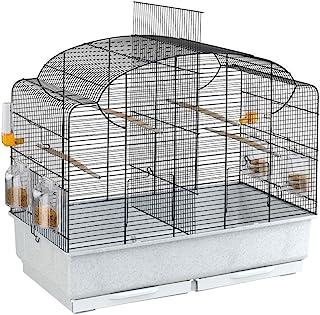 Ferplast Canto鸟舍 Canto 适用于金丝雀等 - 高品质鸟笼,带可拆卸隔板和多种配件 - 尺寸 71 x 38 x 60.5 厘米