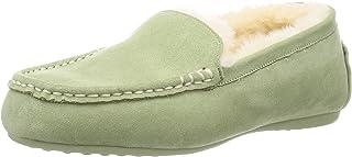 [东方TRAPHIC] Amazon限定色 平底 莫卡辛鞋 女士 毛皮羊皮鞋 雪 冬 保暖 懒人鞋 鞋 浅口鞋 毛绒 大码 小号 8717/9707