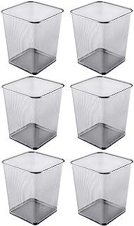 Ybmhome 钢网方形开顶垃圾桶垃圾桶办公室家用 银色 4 Gallon 2488-6
