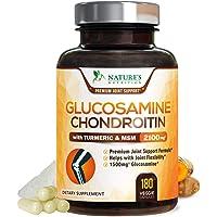 葡萄糖胺软骨素姜黄 MSM。 *大效能 1500 毫克 - 关节*补充药 - 背部、膝盖、臀部和手部*。 Nature…