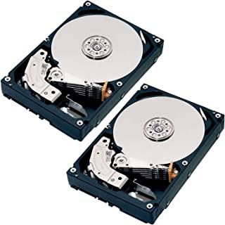 TOSHIBA 东芝 3.5英寸 内置HDD 4TBx2台(CMR) 7,200rpm SATA 24x7 RV传感器 *适合NAS硬盘 HDD2台的包装产品 支持日本支持 故障时同时更换对应 MN04ACA400/JP2