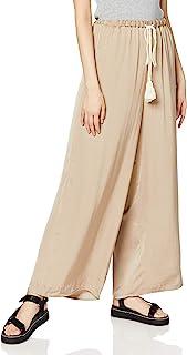 [argrid] 裤子 【La】羊毛 复古缎面裤 女士 112020728601 米色 日本 F (FREE サイズ)