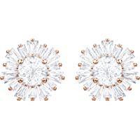 Swarovski Sunshine Pierced Earrings, White, Rose-Gold Tone P…