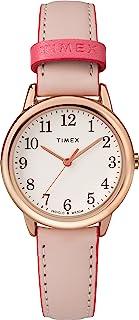 Timex 天美时 女式 Easy Reader 皮革表带 30 毫米手表