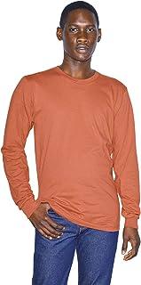 American Apparel 男士*精细针织圆领长袖 T 恤