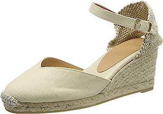Castañer 女式 Chiarita/6/001 帆布鞋