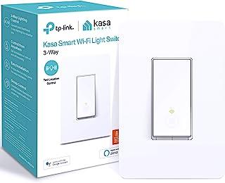 TP-Link 普联 Kasa Smart 3路开关 HS210,需要中线,2.4GHz Wi-Fi 灯开关,适用于 Alexa 和 Google Home,UL 认证,无需集线器(需配变压器)