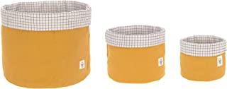 LÄSSIG 收纳篮套装 3 件 Muslin 生态棉 / 收纳篮套装 3 件 Muslin 黄