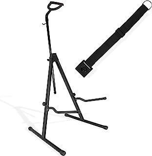 Saintfield Studios – 可调节钢大提琴支架,带蝴蝶结挂钩,黑色 – 可折叠三脚架,带*杆,尾钉锚塞