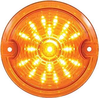 United Pacific 37200 21 LED 3 1/4 英寸圆形哈雷戴维森信号灯,带 1156 个插头 - 琥珀/琥珀镜片