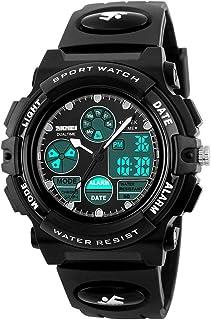 儿童手表模拟数字显示户外运动防水日期闹钟表男孩