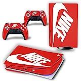PS5 控制台和控制器皮肤乙烯基贴纸贴花盖适用于 PlayStation 5 控制台和控制器,磁盘版 - 鞋盒