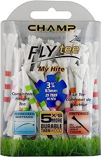 CHAMP FLY T 恤 MY Hite 3–1/ 2英寸25支,条纹混合颜色,混合条纹颜色,31/ 10.2cm