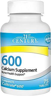 21st Century 钙补充剂,600毫克,75粒