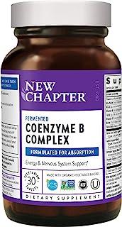 New Chapter 维生素 B 复合物补充剂 含维生素 B12 维生素 B6 生物素 食物复合物 30 片