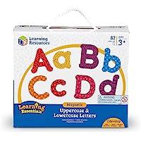 Learning Resources 彩色磁性大写小写字母,白板配件,82件套,适合年龄在3+岁的人群,多色