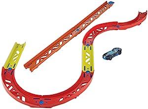 Hot Wheels GLC88 轨道构建器多功能曲线套件配件,用于动态赛道的高级曲线套装,包括车辆,适合 6 岁以上儿童
