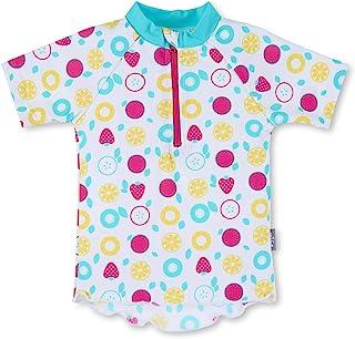 Sterntaler 思丹乐 婴儿 - 女童短袖游泳衫,防紫外线 50+,颜色:白色