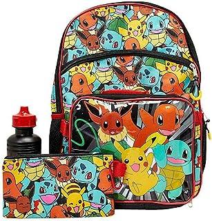 Pokémon 精灵宝可梦 5 件套儿童学校旅行背包午餐盒学校套装