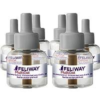 FELIWAY 费利威 MultiCat 小猫冷静扩散器补充装(6件,48毫升)| 专业人士推荐 | 减小少猫之间的战斗…