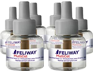 FELIWAY 费利威 MultiCat 小猫冷静扩散器补充装(6件,48毫升)| 专业人士推荐 | 减小少猫之间的战斗和冲突,D89442D