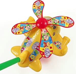 HABIBI 大号拉杆会吐舌头会眨眼睛的手推飞机 手推车 助步车 学步车 宝宝学步玩具