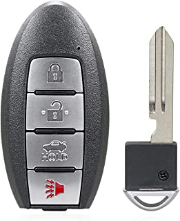 TG Auto 4 纽扣 434Mhz 无钥匙入口挂扣汽车遥控钥匙,适用于 2019-2020 Nissan Altima Sentra Versa Infiniti QX50 FCC ID :KR5TXN1 P/N :285E3-6CA1A