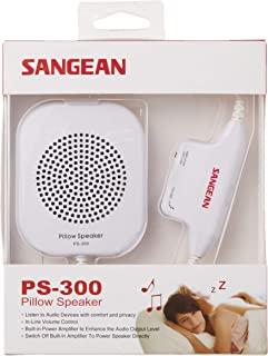 Sangean PS-300 枕头扬声器,带内置音量控制和放大器(白色)