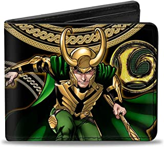 Buckle-Down Marvel Universe wallet Loki Poses Black/gold/green Accessory 多色 One Size