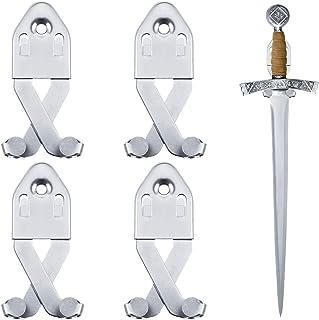 金属单剑壁挂支架垂直墙壁剑展示钩通用剑架多功能可调节剑壁挂支架