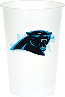Creative Converting Officially Licensed NFL Printed Plastic Cups, 8-Count, 20-Ounce, Carolina Panthers