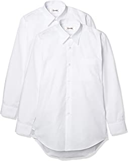 Catch 2件装 男士 长袖 校园衬衫 学生 衬衫 y衬衫 形态稳定 A体 标准体 男孩用 150 155 160 165 170 175 180 185