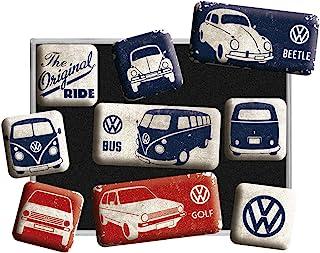 Volkswagen - 一盒 9 个小磁铁珐琅