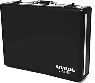 模拟手机壳 UNISON 手机壳适用于 Akai Force 或类似的步行程程和样品(运输箱,铝合金角保护,带手柄的带软垫盖),黑色