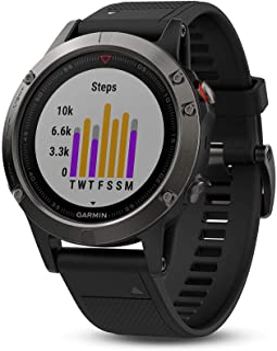 GARMIN 佳明 fānix 5,优质耐用的多功能运动户外 GPS 智能手表,板岩灰色