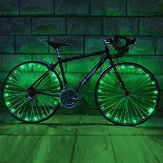 JB 2 件装 自行车 LED 轮灯 辐条 轻循环 适用于自行车装饰轮胎灯 超亮防水灯