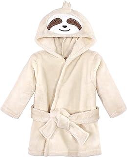 Hudson Baby 中性款婴儿毛绒动物脸浴袍,树懒,0-9 个月