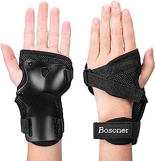 BOSONER 手腕防护装备护腕冲击运动手腕适用于成人/儿童,带保护垫,适用于多种运动滑板滑冰滑雪