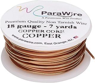 ParaWire 铜工艺线 18 号 7 码(约 18.2 米)带透明保护涂层
