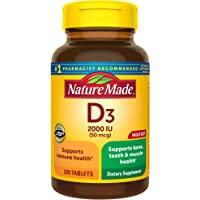Nature Made 天维美 维生素D3 2000IU片剂 220片 大瓶装(包装以实物为准)